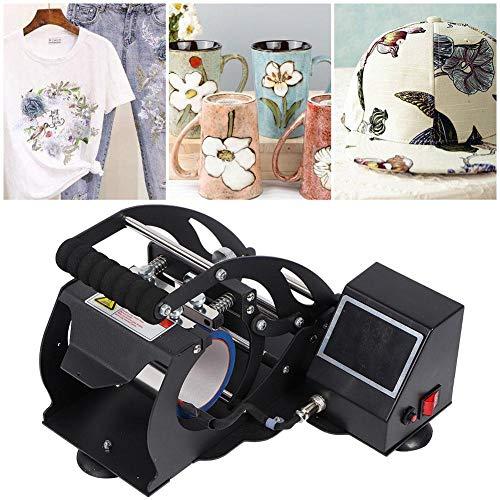 Hitze-Presse-Maschine, LED-Touch Screen Digitalanzeige-T-Shirt Hitze-Presse-Maschinen-Becher-Multifunktionssublimations-Transfermaschine(EU-Stecker 220V) -