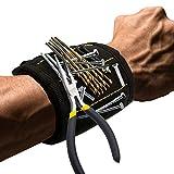 TOOGOO Pulsera magnetica con imanes fuertes DIY Regalos de hombre para tornillos clavos pernos brocas de taladro sujetadores Tijeras y otras herramientas practicas