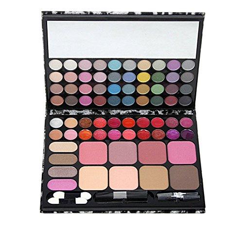 Missfox 72 colori trucco completo della gamma di colori perlescenti, opaca dell'ombretto, lucidalabbra, fard corredo di trucco con ombra del bastone