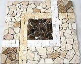 Restposten Mosaik Mosaikfliesen Marmor Parkett Boden Bad Küche WC 8mm NEU #SN05