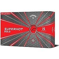 Callaway Palline da golf Superhot Bold, unisex, Superhot Bold, Red, Confezione da 15