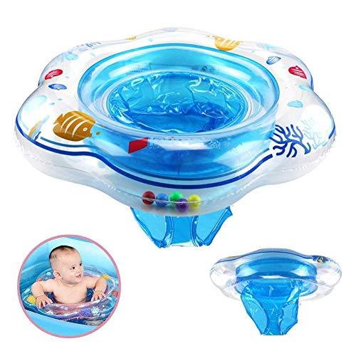 Vercrown Aufblasbarer Schwimmring für Babybecken, Boot, Yacht mit Sonnenschutz und Luftpumpe, für Kinder von 6-36 Monaten
