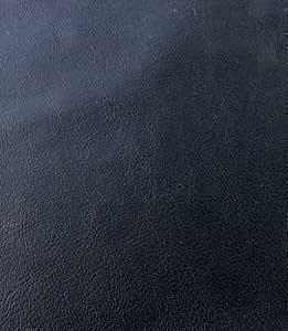 BLACK FAUX LEATHER LEATHERETTE MATERIAL LIGHT STRETCH LEATHERCLOTH CLOTHING UPHOLSTERY FABRIC PER 1 METRE X 140 by QUICKFABRICS