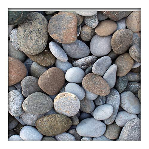 Kieskönig Flusskiesel Zierkies River Pebbles Gartenkies Ziersteine Gartenteich bunt 30-90 mm 25 kg