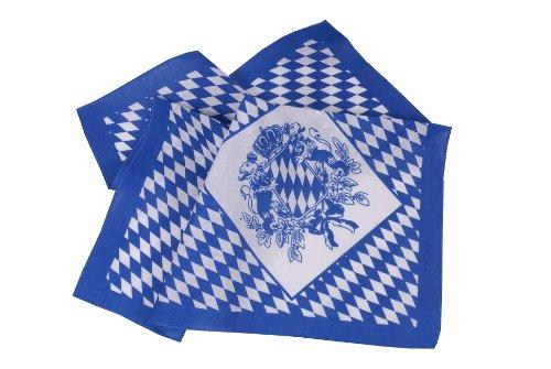 Trachtentuch Halstuch Trachten Damen/Herren - fesches Trachtenhalstuch mit Bayernwappen - Blau