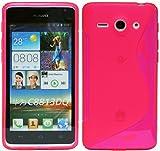 Huawei Ascend Y530 Silikon Hülle Schale Tasche in Pink @ Energmix