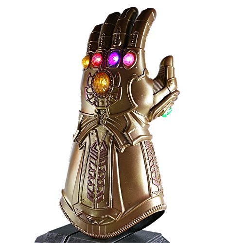 (K-Y YK Tanos Glowing Gloves Avengers 3 Collector's Edition Cosplay Fans Props Halloween Costume Heroes Play)