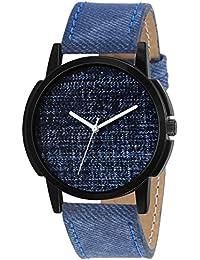 Timebre Men & Women Blue Real Denim Analog Watch