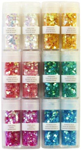51BV rFdh1L - Martha Stewart Iridescent Shaped Glitter 12 pezzi