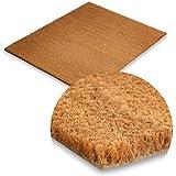 Fußabtreter - 40x60 cm - aus natürlichem Kokos, 24mm - umweltfreundlicher natürlicher Schmutzstopper für Innen- und Aussenbereiche