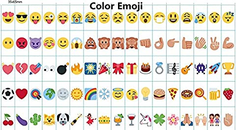 NectaRoy 85Pcs Emoji Cards Signs Graphs Symbols for Your Personalized A4 A5 Cinematic Light Up Boxes, Colorful Decorative DIY Cinema Signs Emoji Symbols