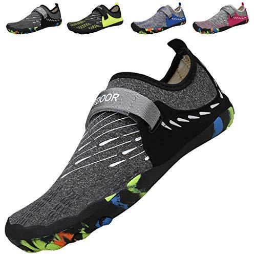 ziitop Aqua Shoes Escarpines Hombres Mujer Zapatos de Agua Zapatillas Ligeros de Secado Rápido para Swim Beach Surf Yoga