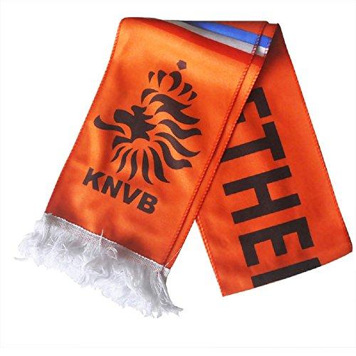 ILOVEDIY WM Schal 2018 Fanschal Fussball Mannschaft Souvenir (Niederlande)