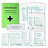 Austauschset Sterilteile für Verbandkästen und Erste-Hilfe-Koffer DIN 13157 EN 13 157 für Betriebe incl. steriler Pinzette und Verbandbuch