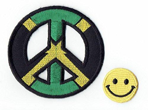 Jamaica Peace apliques bordados hierro parches PATCH