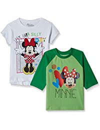 Disney-Mickey Mouse & Friends Girls' T-Shirt (Pack of 2)