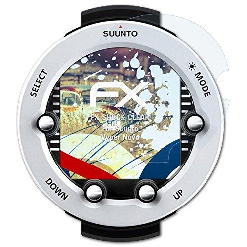 atFoliX Schutzfolie kompatibel mit Suunto Vyper Novo Panzerfolie, ultraklare und stoßdämpfende FX Folie (3X)