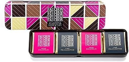 Fauchon - 12 carrés de chocolat noir et lait