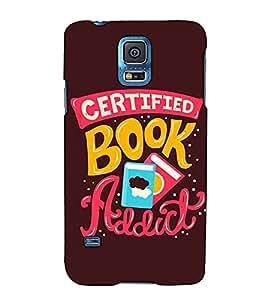Fuson Designer Back Case Cover for Samsung Galaxy S5 Neo :: Samsung Galaxy S5 Neo G903F :: Samsung Galaxy S5 Neo G903W (Certified Book Addict Theme)