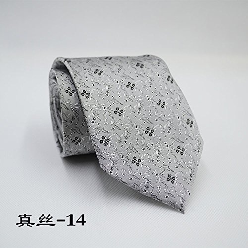 LKKLILY-Silk tie men's business tie 10cm*145cm mulberry silk,Silk -14 (Tuxedo Jacket Formale)