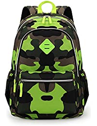 ac6f29f7beeb0 TOFERN Sac à Dos Scolaire Camouflage Résistant Ergonomique Antichoc  Ordinateur Portable Tablette Fille Garçon Enfant Cartable