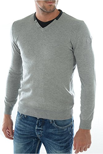 Redskins Dariuselvis - Pull - Uni - Manches longues - Homme Gris (Anch)