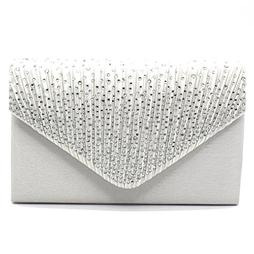 Highdas frizione della busta borsa a tracolla moda donna Cluthes C3 bianco