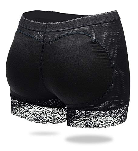 0cb6cb9d5f7 AIMILIA Butt Lifter Control Knickers Hip Enhancer Padded Shapewear Panties  Fake Buttock Boyshorts Sexy Lace Design