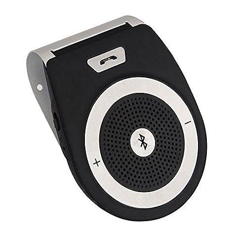 Kit mains libres Bluetooth 4.1 pour voiture,Kit de pare-soleil Appairage avec 2 téléphones for iPhone7/6/6 s plus / Samsung et tout téléphone Bluetooth