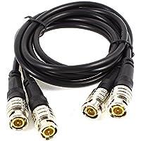 2 piezas RG59 BNC macho a macho M/M conector Cable Coaxial 91,44 cm