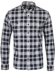Edwin Homme Vérifié Imprimer T-shirt manches longues Travail, Gris
