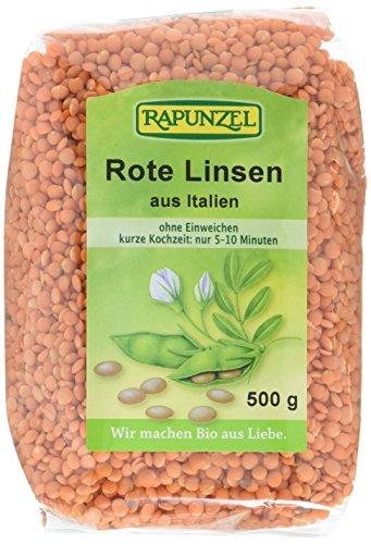Rapunzel Linsen rot, Projekt, 2er Pack (2 x 500 g) - Bio