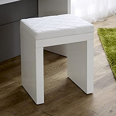 White High Gloss Dressing Table Stool
