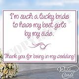 Thank You For Being My Bridesmaid Maid of Honour Geschenkschachtel Matron of Honour Junior Chief Flower Girl Laden Karte Postkarte Hochzeit Novelty Andenken-personalisierbar jeder Größe, Farbe, Text A4A5A6A7