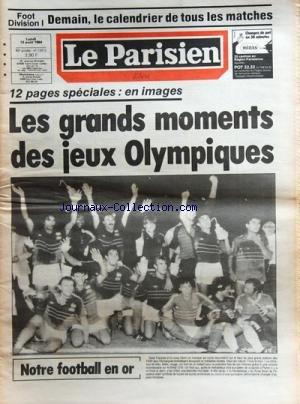 PARISIEN LIBERE (LE) [No 12412] du 13/08/1984 - les grands moments des jeux olympiques