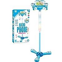 WETCEAOM Micro Enfant sur Pied Karaoke Enfants Micro Enfant pour Chanter Fille (Bleu)