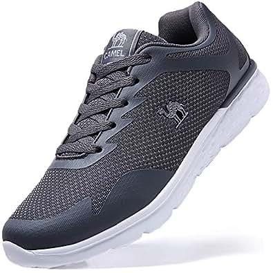 CAMEL CROWN Herren Sportschuhe Sneaker Laufschuhe Leichte Atmungsaktiv Fitnessstudio Traillaufschuhe Freizeit Schnürer Turnschuhe