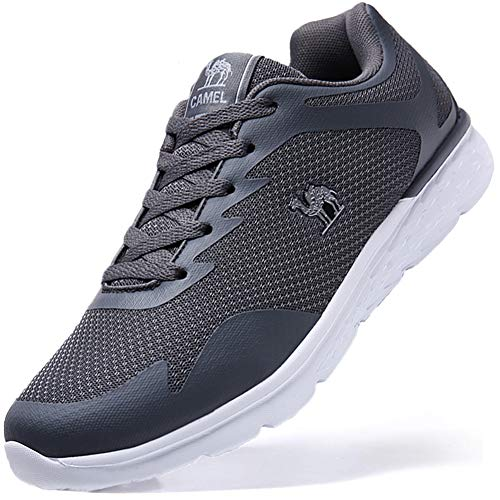 Herren Sportschuhe Sneaker Laufschuhe Leichte Atmungsaktiv Fitnessstudio Traillaufschuhe Freizeit Schnürer Turnschuhe, Gr.-43 EU/7.5 UK, Grau