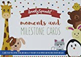 LovelySprouts Moments &Milestone Baby Age Cards | Set of 35 Photo Cards in a Keepsake Box Gift Set | Capture Precious Moments | Perfect Baby Shower Gift