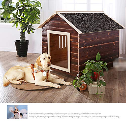 Pet house, outdoor warm indoor solid wood charcoal cat litter dog cage pet nest dog house  Pet house