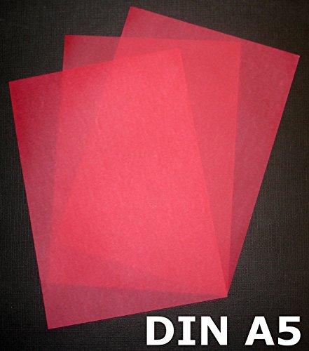 25 Blatt DIN A5 Transparentpapier Zanders Spectral 100g exzellente Durchsicht