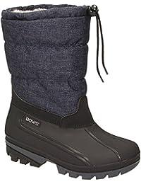 BOWS Liv- Damen Mädchen Jungen Winter Stiefel Schnee Schuhe Snow Boots Schlupfstiefel Warmfutter Wasserdicht