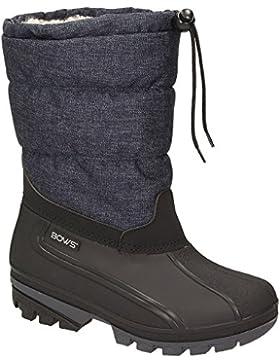 BOWS® -LIV- Damen Mädchen Jungen Winter Stiefel Schnee Schuhe Snow Boots Schlupfstiefel Warmfutter wasserdicht
