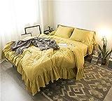 Rosseae Bettwäsche Set, Bettbezug Set beinhaltet 2 Baumwollgarn Kissenbezüge, EIN Bettbezug und EIN Spannbettuch | Luxus-weiße Bettwäsche mit gesundheitlichen Vorteilen (Farbe : -, Größe : Large)