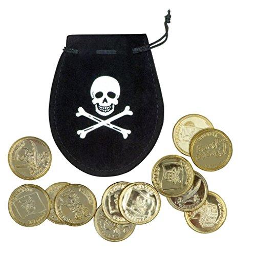 Panelize Goldmünzen Piratenbeutel mit Münzen im Beutel mit Schnur