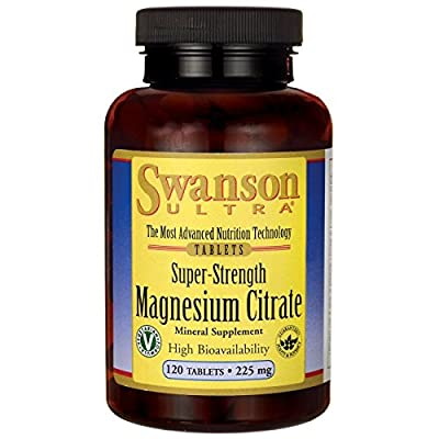 Swanson Ultra Magnesium Citrate (225mg, 120 Tablets) from Swanson Health Products