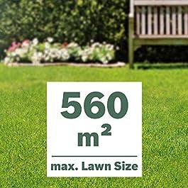Bosch 06008B9501 Tondeuse à Gazon sans Fil – UniversalRotak 36-560 (∅38, 2 batteries 36V, superficies de pelouse jusqu'à 560 m² )