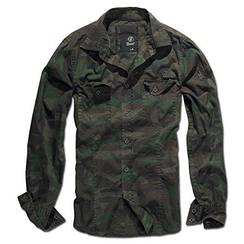 Brandit Shirt slim MEN woodland Gr. XL Art. 4005-10-XL -