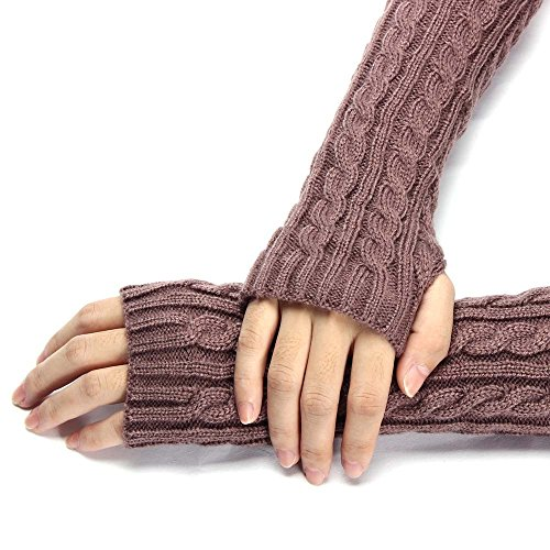 Frühling Neue Damen Stricken Warme Gefälschte Hülse Fäustlinge Herbst Winter Frauen Gestrickte Arm Wärmer Finger Lange Handschuhe Mit Gürtel Decor Armstulpen