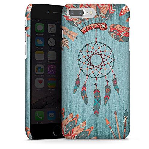 Apple iPhone X Silikon Hülle Case Schutzhülle Traumfänger Indianer Federn Premium Case glänzend